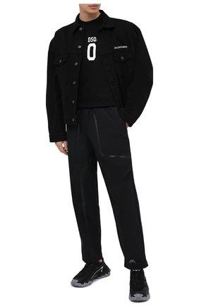 Мужская хлопковая футболка DSQUARED2 черного цвета, арт. S79GC0003/S23009 | Фото 2 (Материал внешний: Хлопок; Длина (для топов): Стандартные; Рукава: Короткие; Принт: С принтом; Стили: Гранж)