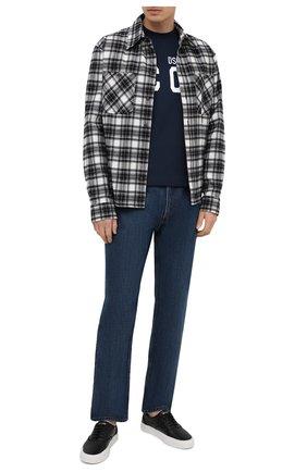Мужская хлопковая футболка DSQUARED2 темно-синего цвета, арт. S79GC0003/S23009 | Фото 2