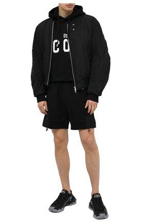 Мужской хлопковое худи DSQUARED2 черного цвета, арт. S79GU0003/S25042 | Фото 2 (Длина (для топов): Стандартные; Материал внешний: Хлопок; Стили: Спорт-шик; Рукава: Длинные; Мужское Кросс-КТ: Худи-одежда; Принт: С принтом)