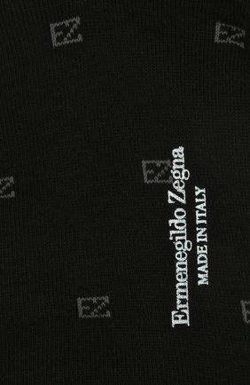 Мужские хлопковые носки ERMENEGILDO ZEGNA черного цвета, арт. N5V023800 | Фото 2