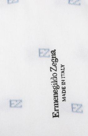 Мужские хлопковые носки ERMENEGILDO ZEGNA белого цвета, арт. N5V023800 | Фото 2