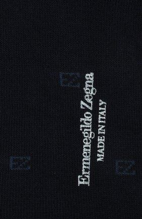 Мужские хлопковые носки ERMENEGILDO ZEGNA темно-синего цвета, арт. N5V023800 | Фото 2
