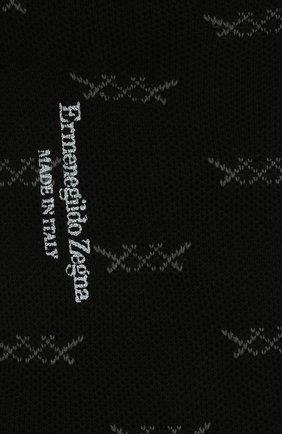 Мужские хлопковые носки ERMENEGILDO ZEGNA черного цвета, арт. N5V023810 | Фото 2