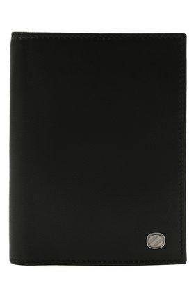 Мужской кожаная обложка для паспорта ERMENEGILDO ZEGNA черного цвета, арт. E1448W-LHNAC | Фото 1