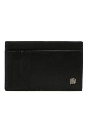 Мужской кожаный футляр для кредитных карт ERMENEGILDO ZEGNA черного цвета, арт. E1646W-LHNAC | Фото 1