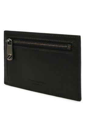 Мужской кожаный футляр для кредитных карт ERMENEGILDO ZEGNA черного цвета, арт. E1646W-LHNAC | Фото 2