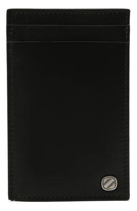 Мужской кожаный футляр для кредитных карт ERMENEGILDO ZEGNA черного цвета, арт. E1659W-LHNAC | Фото 1