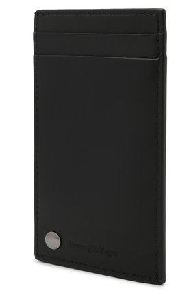Мужской кожаный футляр для кредитных карт ERMENEGILDO ZEGNA черного цвета, арт. E1659W-LHNAC | Фото 2
