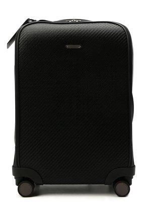 Мужской кожаный чемодан ERMENEGILDO ZEGNA черного цвета, арт. C1501P-LHPTA | Фото 1