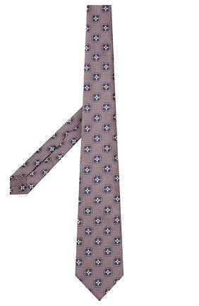Мужской шелковый галстук ERMENEGILDO ZEGNA розового цвета, арт. Z9D13/18B | Фото 2