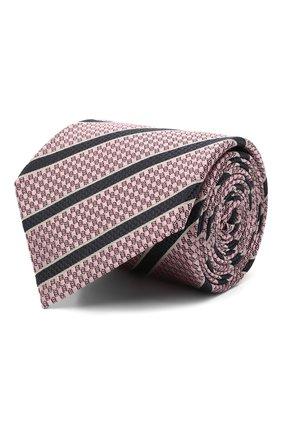 Мужской шелковый галстук ERMENEGILDO ZEGNA розового цвета, арт. Z9D13/18B | Фото 1