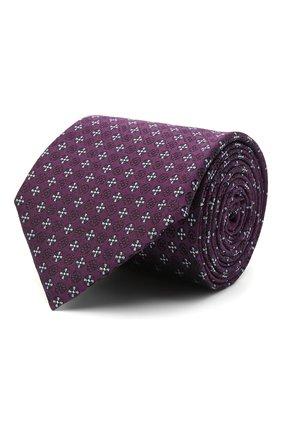 Мужской шелковый галстук ERMENEGILDO ZEGNA фиолетового цвета, арт. Z9D44/100 | Фото 1