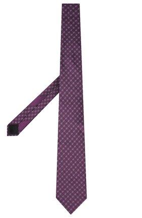 Мужской шелковый галстук ERMENEGILDO ZEGNA фиолетового цвета, арт. Z9D44/100 | Фото 2