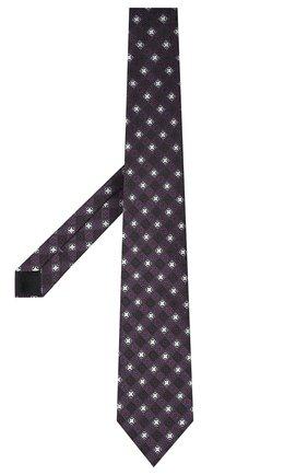 Мужской шелковый галстук ERMENEGILDO ZEGNA фиолетового цвета, арт. Z9D82/1XW | Фото 2