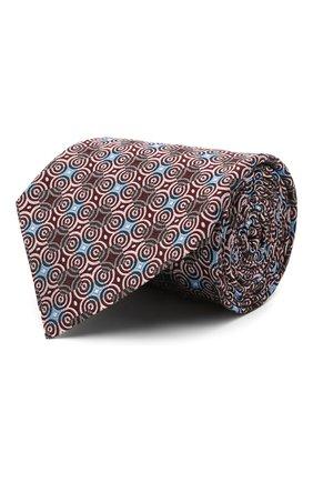Мужской шелковый галстук ERMENEGILDO ZEGNA розового цвета, арт. Z9D86/1XW | Фото 1