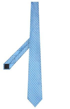 Мужской шелковый галстук ERMENEGILDO ZEGNA голубого цвета, арт. Z9E22/100   Фото 2