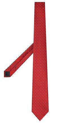 Мужской шелковый галстук ERMENEGILDO ZEGNA красного цвета, арт. Z9E23/100 | Фото 2