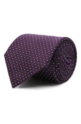Мужской шелковый галстук ERMENEGILDO ZEGNA фиолетового цвета, арт. Z9E25/100 | Фото 1
