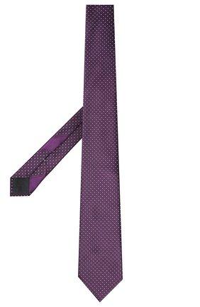Мужской шелковый галстук ERMENEGILDO ZEGNA фиолетового цвета, арт. Z9E25/100 | Фото 2