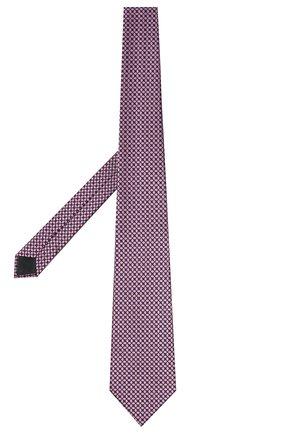 Мужской шелковый галстук ERMENEGILDO ZEGNA розового цвета, арт. Z9W03/1UM | Фото 2