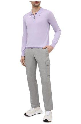 Мужские шерстяные брюки-карго BRIONI серого цвета, арт. RPAB0L/P0A8I/RANGIR0A | Фото 2 (Стили: Кэжуэл; Материал внешний: Шерсть; Длина (брюки, джинсы): Стандартные; Случай: Повседневный; Силуэт М (брюки): Карго)