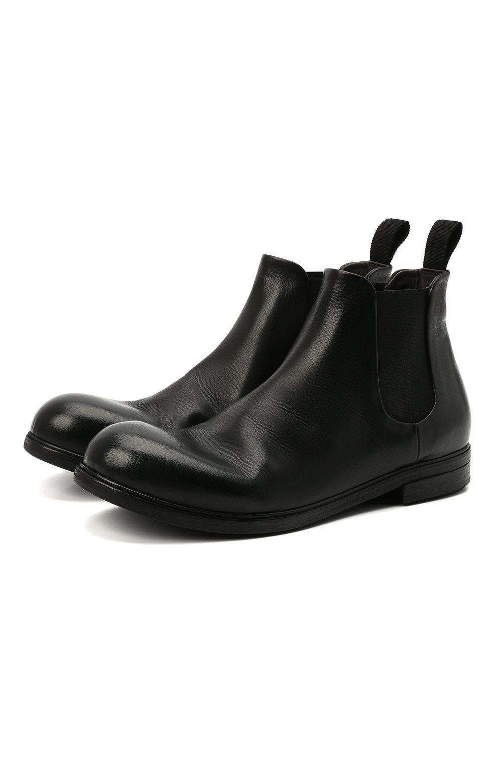 Мужские кожаные челси MARSELL черного цвета, арт. MM2440/PELLE V0L0NATA   Фото 1 (Материал внутренний: Натуральная кожа; Подошва: Плоская; Мужское Кросс-КТ: Сапоги-обувь, Челси-обувь)