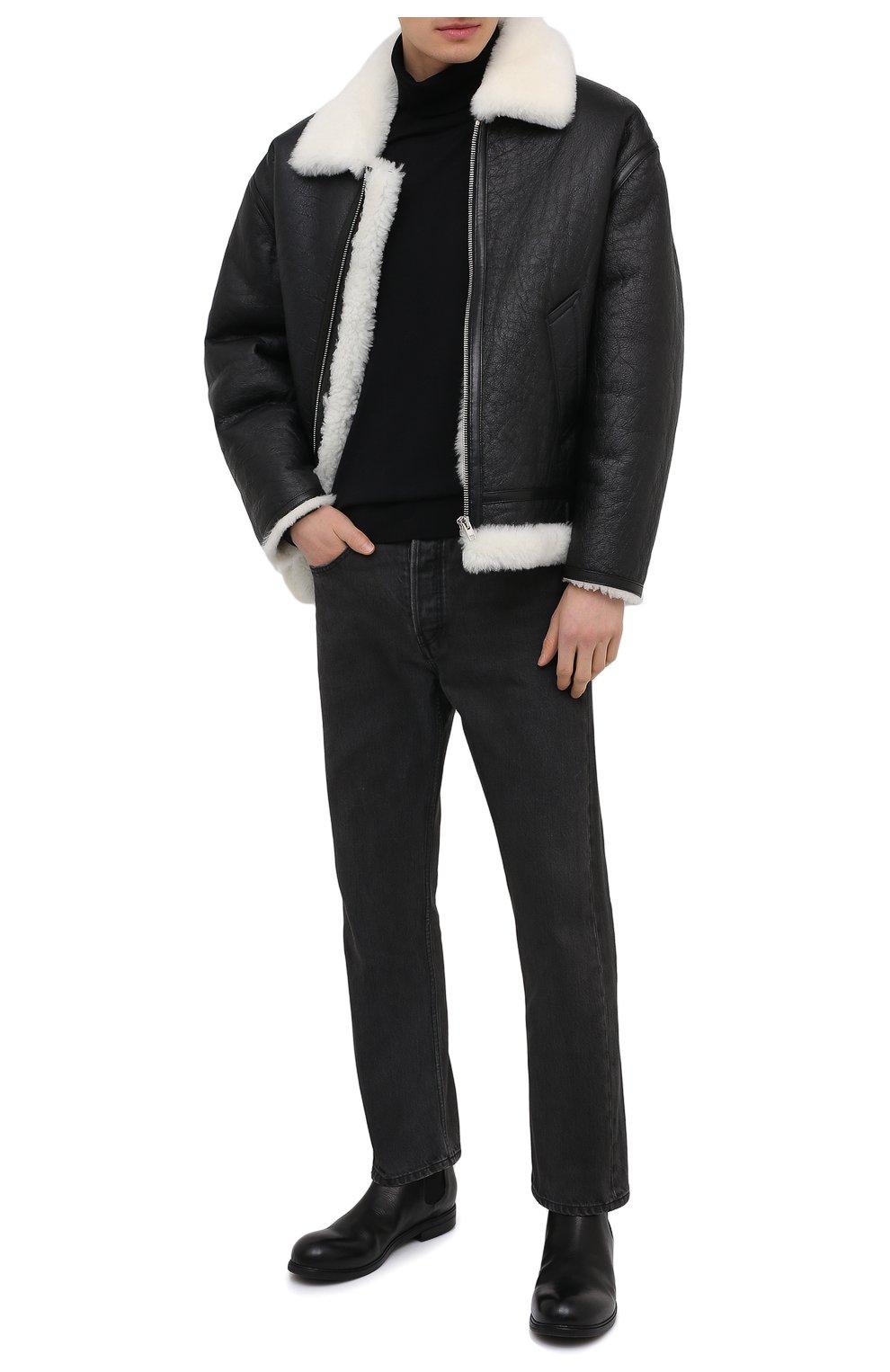 Мужские кожаные челси MARSELL черного цвета, арт. MM2440/PELLE V0L0NATA   Фото 2 (Материал внутренний: Натуральная кожа; Подошва: Плоская; Мужское Кросс-КТ: Сапоги-обувь, Челси-обувь)