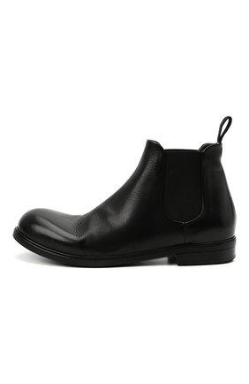 Мужские кожаные челси MARSELL черного цвета, арт. MM2440/PELLE V0L0NATA   Фото 3 (Материал внутренний: Натуральная кожа; Подошва: Плоская; Мужское Кросс-КТ: Сапоги-обувь, Челси-обувь)