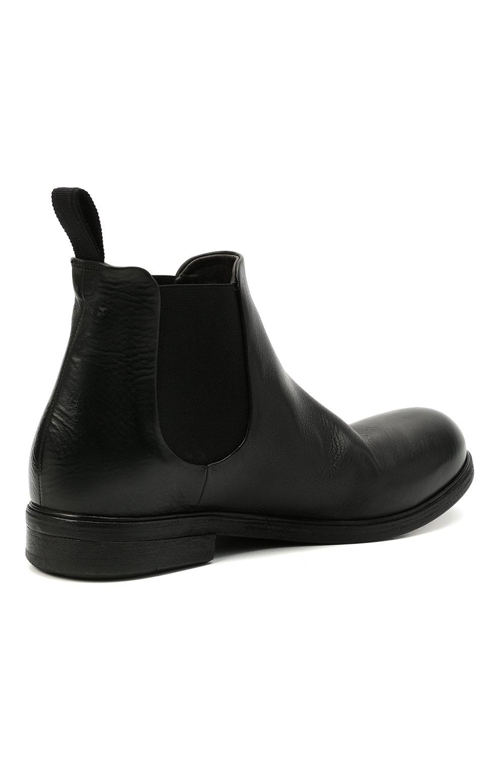 Мужские кожаные челси MARSELL черного цвета, арт. MM2440/PELLE V0L0NATA   Фото 4 (Материал внутренний: Натуральная кожа; Подошва: Плоская; Мужское Кросс-КТ: Сапоги-обувь, Челси-обувь)