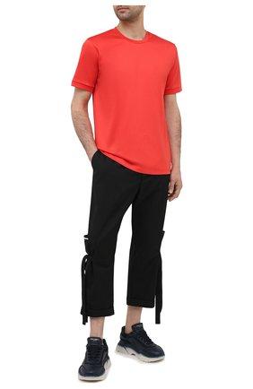 Мужская хлопковая футболка GIORGIO ARMANI красного цвета, арт. 3KSM93/SJXDZ | Фото 2
