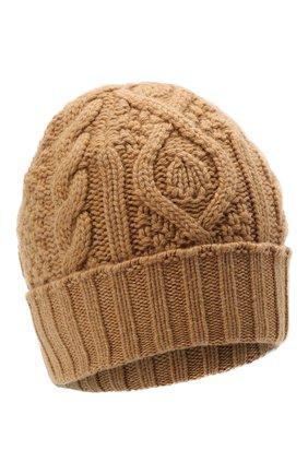 Мужская кашемировая шапка RALPH LAUREN бежевого цвета, арт. 790769017 | Фото 1