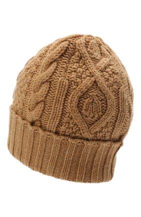 Мужская кашемировая шапка RALPH LAUREN бежевого цвета, арт. 790769017 | Фото 2
