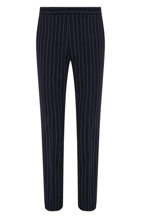 Мужские брюки из хлопка и льна RALPH LAUREN темно-синего цвета, арт. 798830245 | Фото 1 (Длина (брюки, джинсы): Стандартные; Материал подклада: Вискоза; Материал внешний: Хлопок; Случай: Формальный; Стили: Классический)