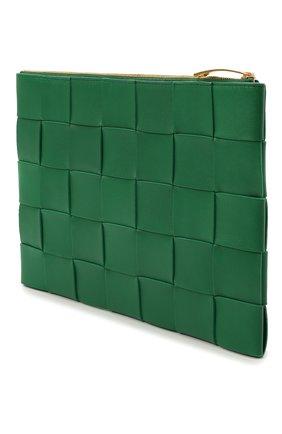 Женская кожаная косметичка BOTTEGA VENETA зеленого цвета, арт. 652931/VCQC1   Фото 2