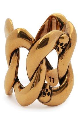 Женское кольцо ALEXANDER MCQUEEN золотого цвета, арт. 650457/J160Z | Фото 1