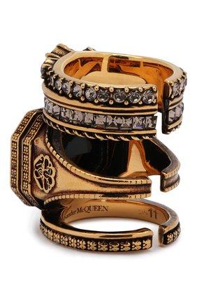 Женское кольцо ALEXANDER MCQUEEN черного цвета, арт. 650460/J160Z | Фото 2
