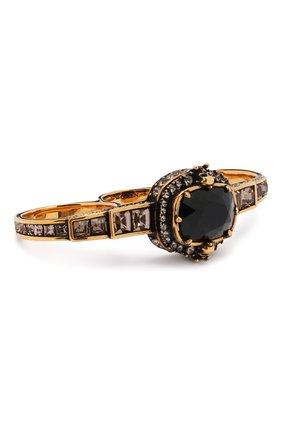 Женское кольцо ALEXANDER MCQUEEN черного цвета, арт. 650470/J160Z | Фото 1