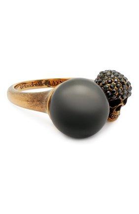 Женское кольцо ALEXANDER MCQUEEN золотого цвета, арт. 651257/J160U | Фото 1
