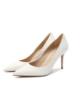 Женские кожаные туфли LE SILLA белого цвета, арт. 2101M080R1PPMIN | Фото 1