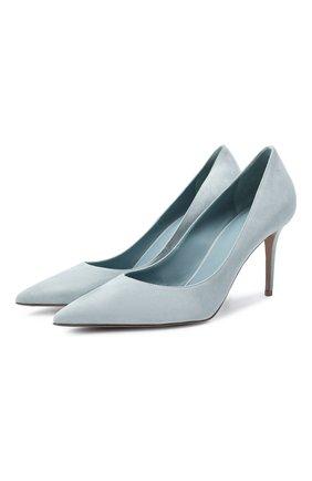 Женские замшевые туфли eva LE SILLA голубого цвета, арт. 2101M080R1PPVEL | Фото 1