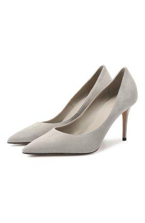 Женские замшевые туфли eva LE SILLA серого цвета, арт. 2101M080R1PPVEL | Фото 1