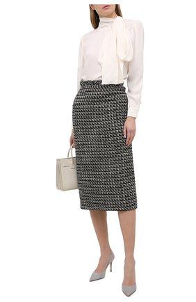 Женские замшевые туфли eva LE SILLA серого цвета, арт. 2101M080R1PPVEL | Фото 2