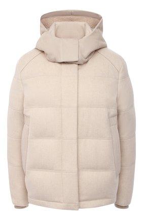 Женский пуховая куртка LORO PIANA светло-бежевого цвета, арт. FAL4882 | Фото 1