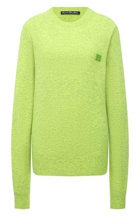 Женский шерстяной пуловер ACNE STUDIOS зеленого цвета, арт. C60023/W | Фото 1