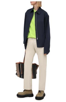 Женский шерстяной пуловер ACNE STUDIOS зеленого цвета, арт. C60023/W | Фото 2