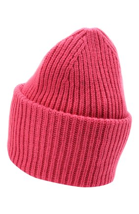 Женская шерстяная шапка ACNE STUDIOS розового цвета, арт. C40140/W | Фото 2