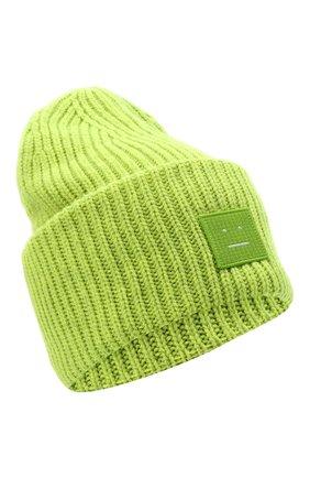 Женская шерстяная шапка ACNE STUDIOS светло-зеленого цвета, арт. C40140/W | Фото 1