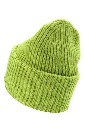 Женская шерстяная шапка ACNE STUDIOS светло-зеленого цвета, арт. C40140/W | Фото 2