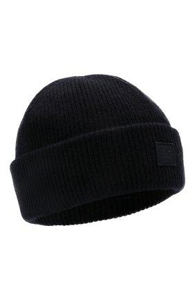 Женская шерстяная шапка ACNE STUDIOS черного цвета, арт. C40134/W | Фото 1