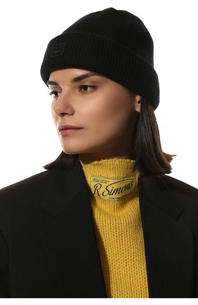 Женская шерстяная шапка ACNE STUDIOS черного цвета, арт. C40134/W | Фото 2